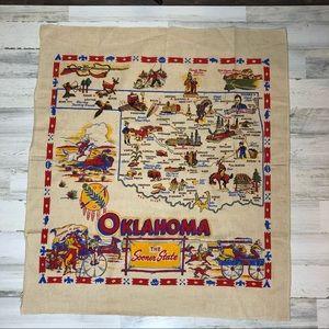 Oklahoma Burlap Tapestry Wall Art